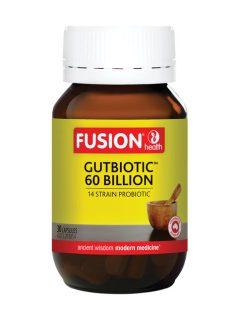 Fusion GutBiotic 60 Billion (30, 60 Vegetarian Capsules)