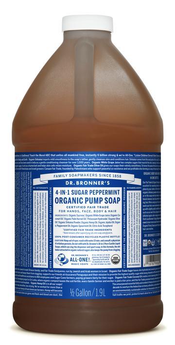 Peppermint Organic Pump Soap 710mL