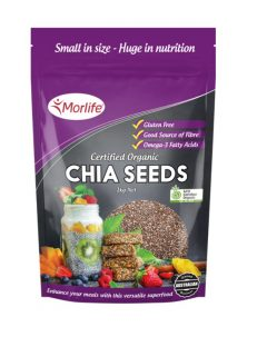 Morlife Certified Organic Chia Seeds (1kg)