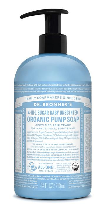 Baby Unscented Organic Pump Soap 710mL
