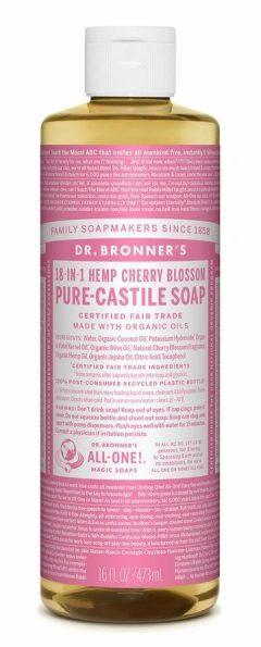 Cherry Blossom Pure Castile Liquid Soap 473mL