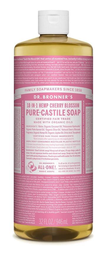 Cherry Blossom Pure Castile Liquid Soap 946mL