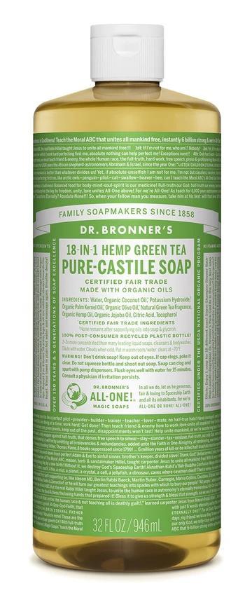 Green Tea Pure Castile Liquid Soap 237mL