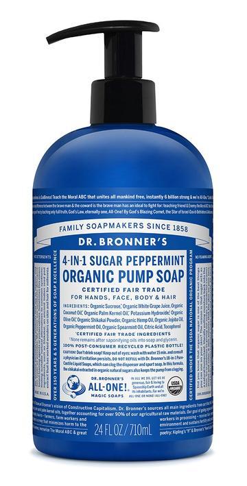 Peppermint Organic Pump Soap 1.89L