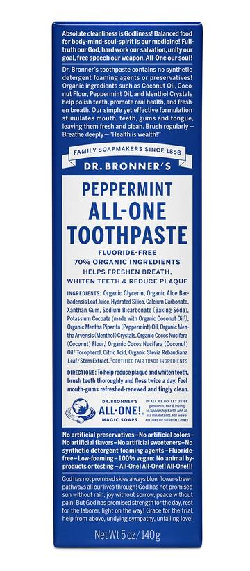 Peppermint All One Toothpaste 28g