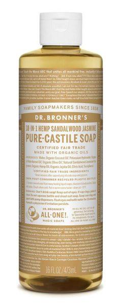 Sandalwood Jasmine Pure Castile Liquid Soap 473mL