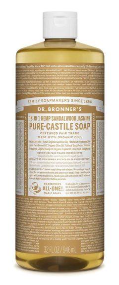 Sandalwood Jasmine Pure Castile Liquid Soap 946mL